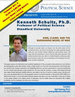 Flyer for Schultz Talk on October 5 from 12:30 to 2:00 in the Orfalea Center Conference Room (2320 Girvetz)