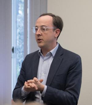 Headshot of Professor Matto Mildenberger speaking